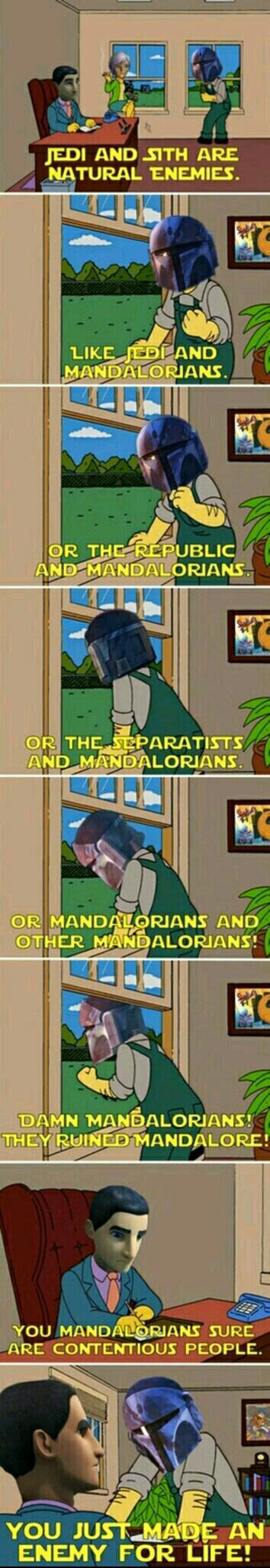 I actually love mandalorians - meme