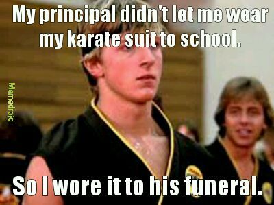 TRIGGERED KARATE STUDENT - meme