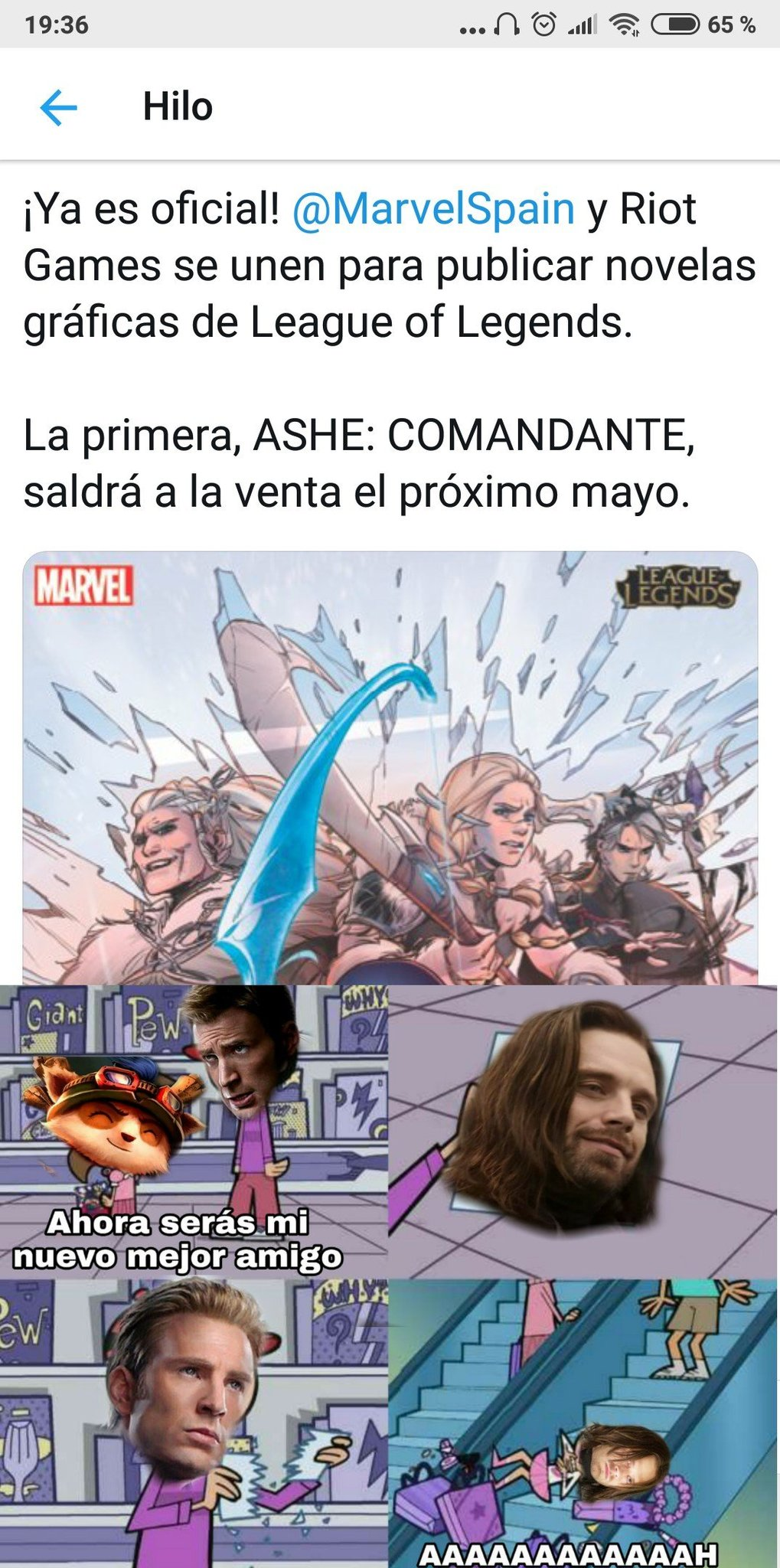 Todos en avengers 3 estan vivos se tiraron zonias - meme