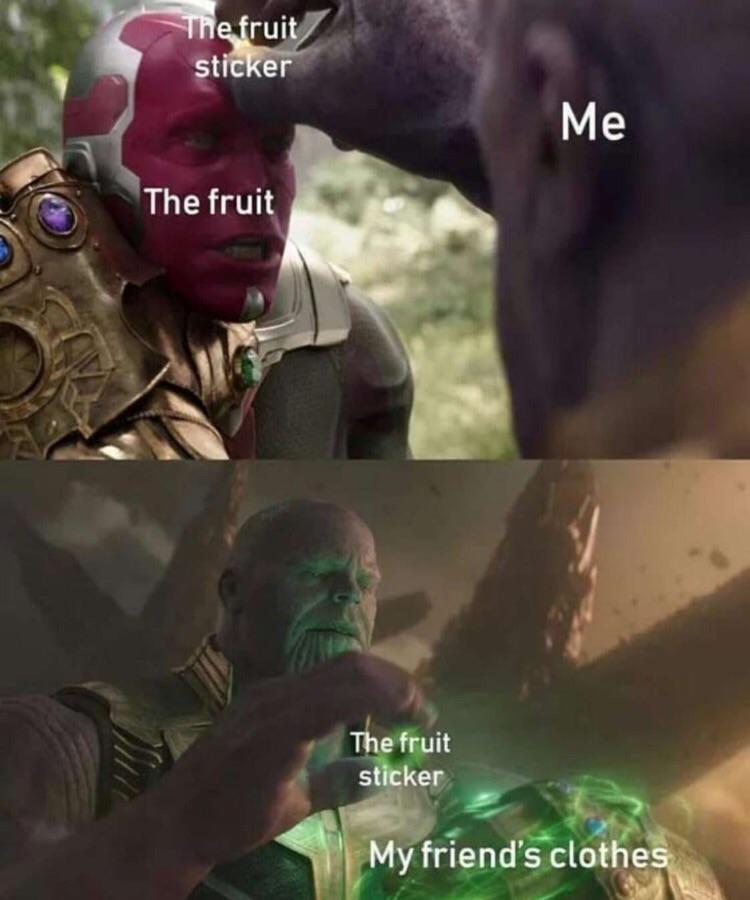 Infinity fruit - meme