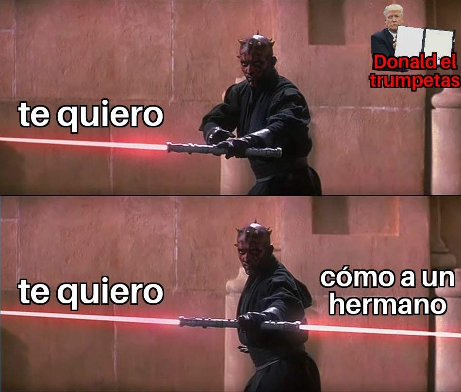 Doble laser - meme
