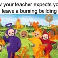 The building is fricking on fire!!!