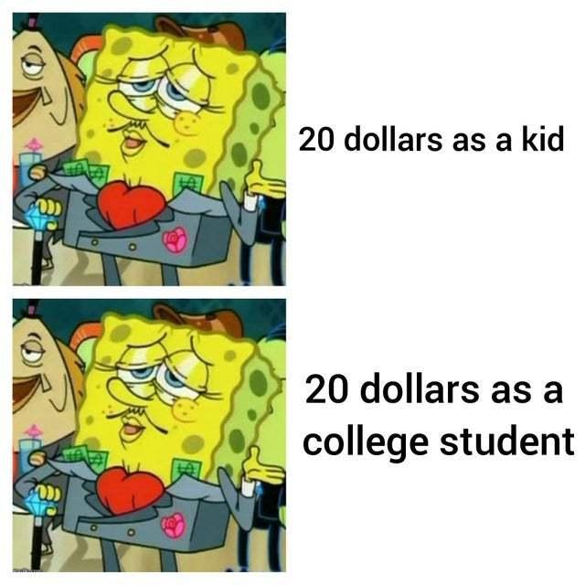20 dollars is 20 dollars - meme