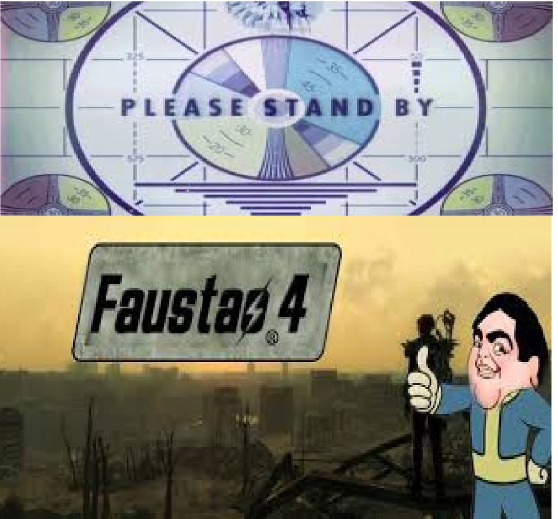 bethesda annouces new fallout series game crossover whit big faust great sunday - meme
