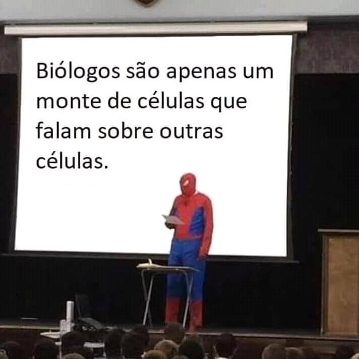 Biologia com MIRANHA - meme