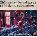 China may be using sea to hide its submarines
