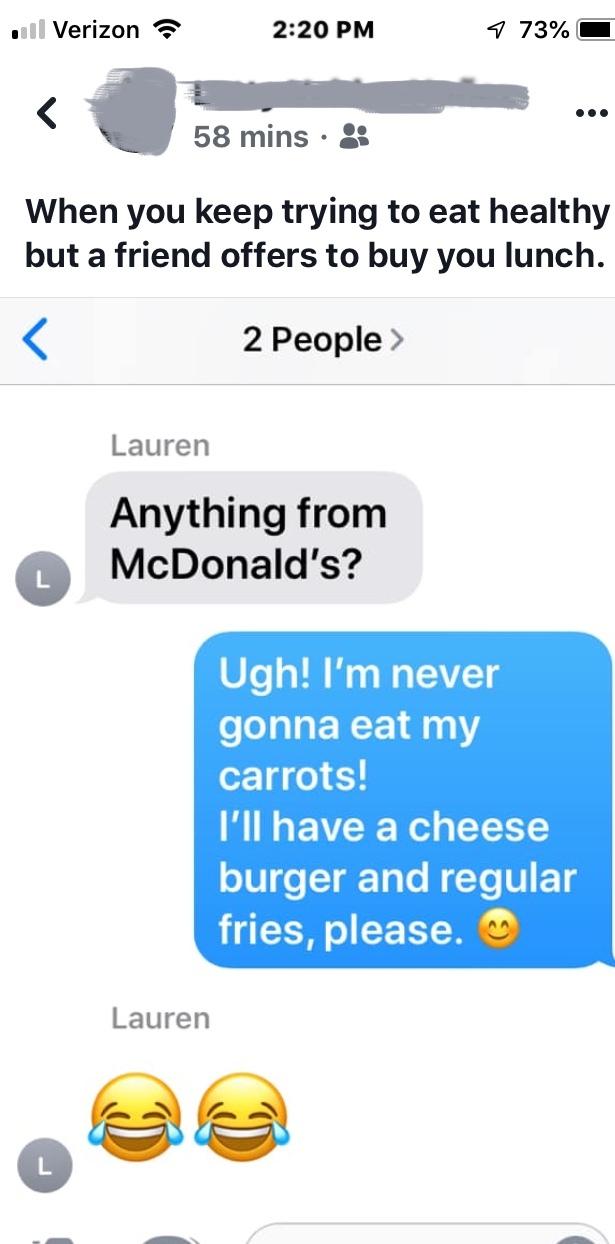 carrots or cheeseburger - meme