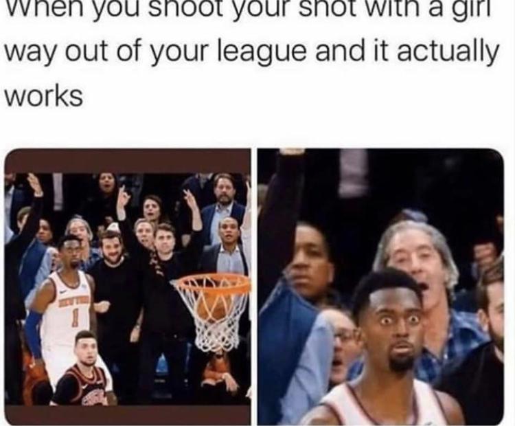 Shooting a shot wit yah girl - meme