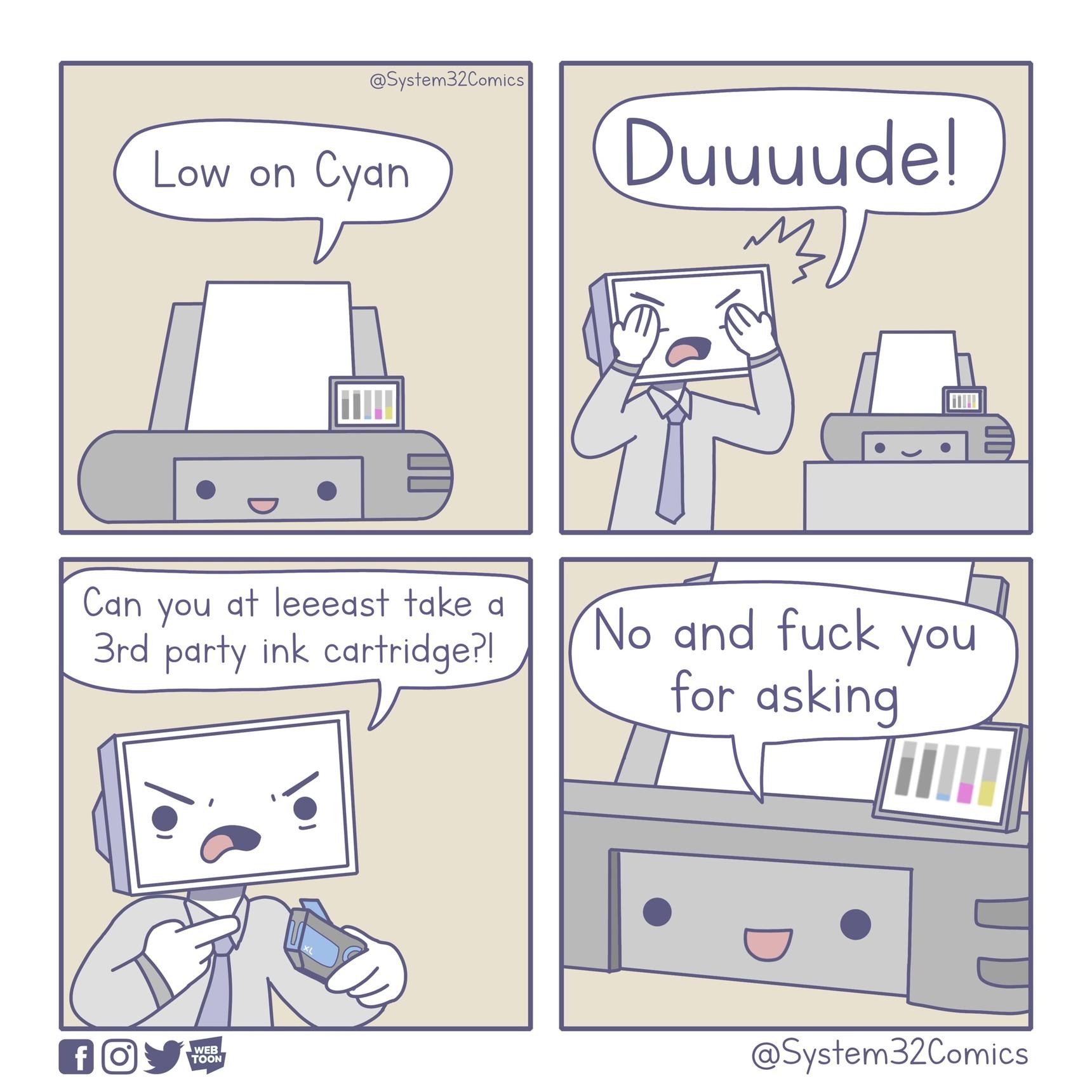 More printer comics - meme