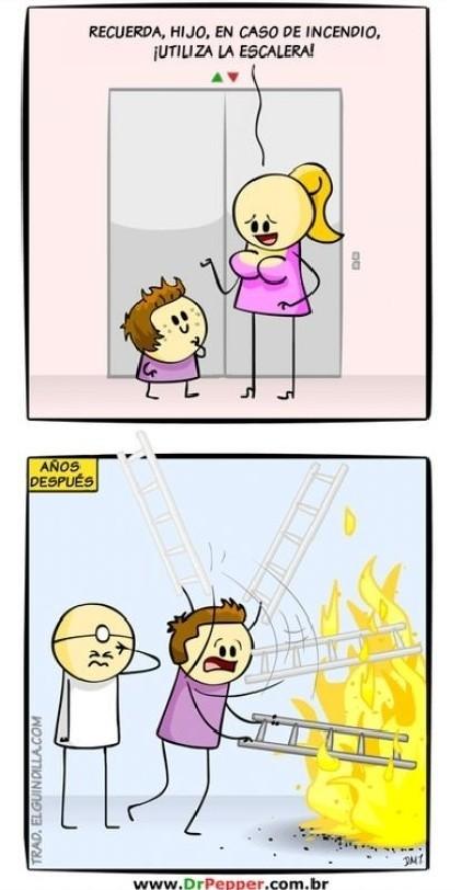 La escalera literal - meme