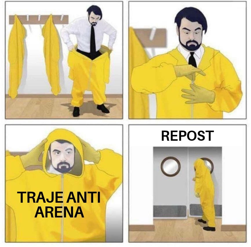 Me da miedo entrar ahi - meme