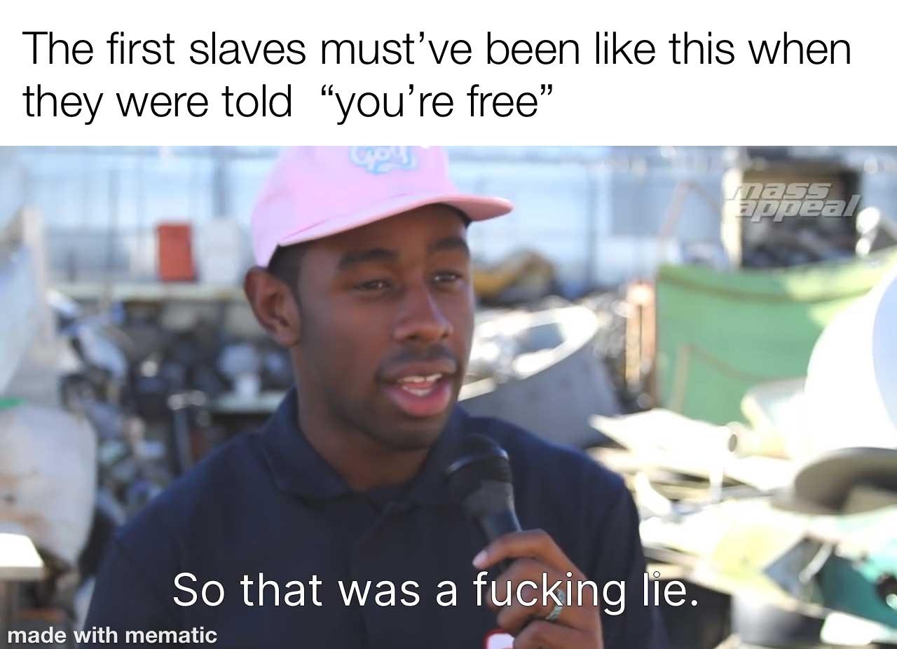 first slaves - meme
