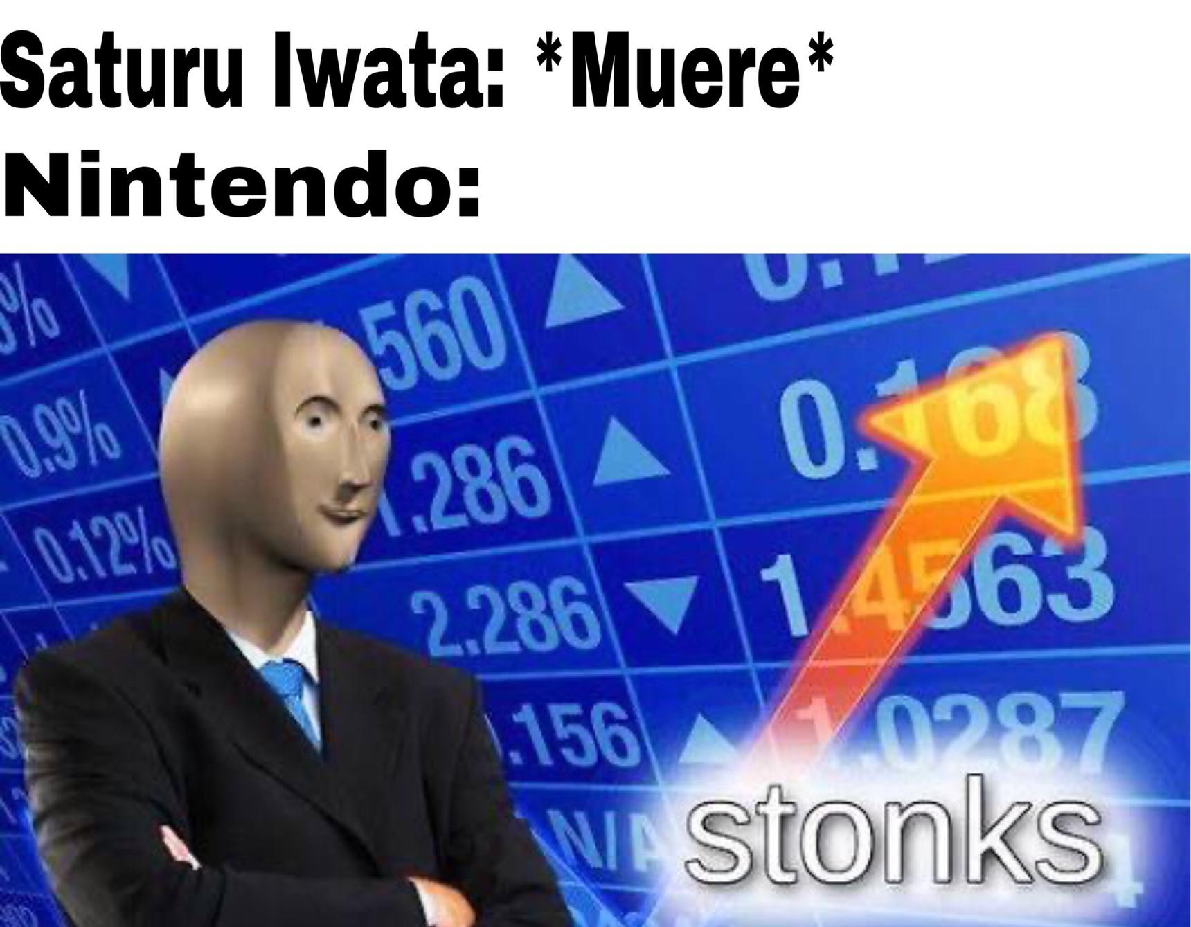 Contexto: Desde que Iwata falleció, Nintendo se pasó todas sus ideologías por el culo - meme