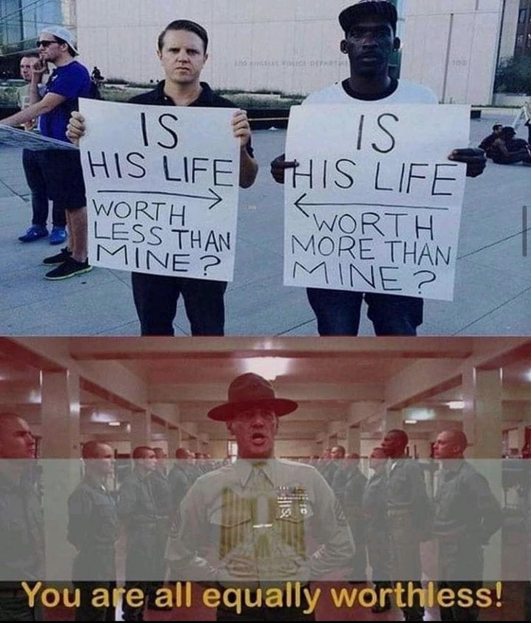 Say no to rasism - meme