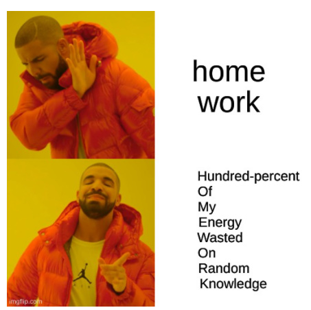 HOME WORK BE LIKE - meme
