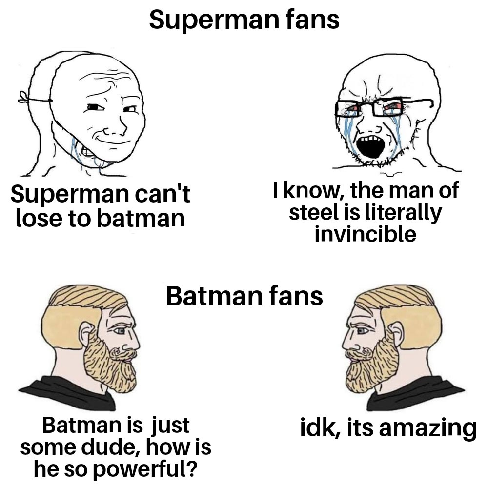 Batman is the most powerful - meme