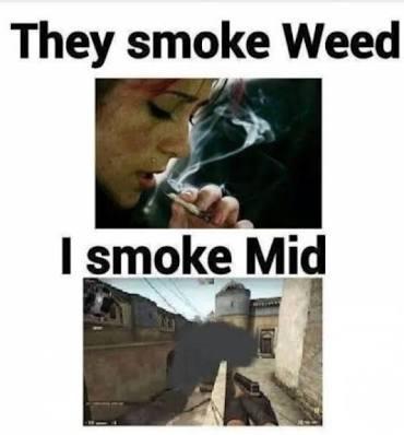This guy smokes mid-----> - meme
