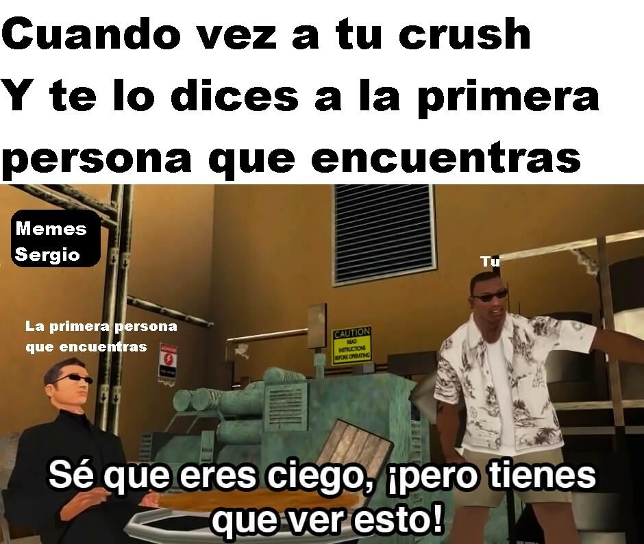 Cuando vez a tu crush - meme