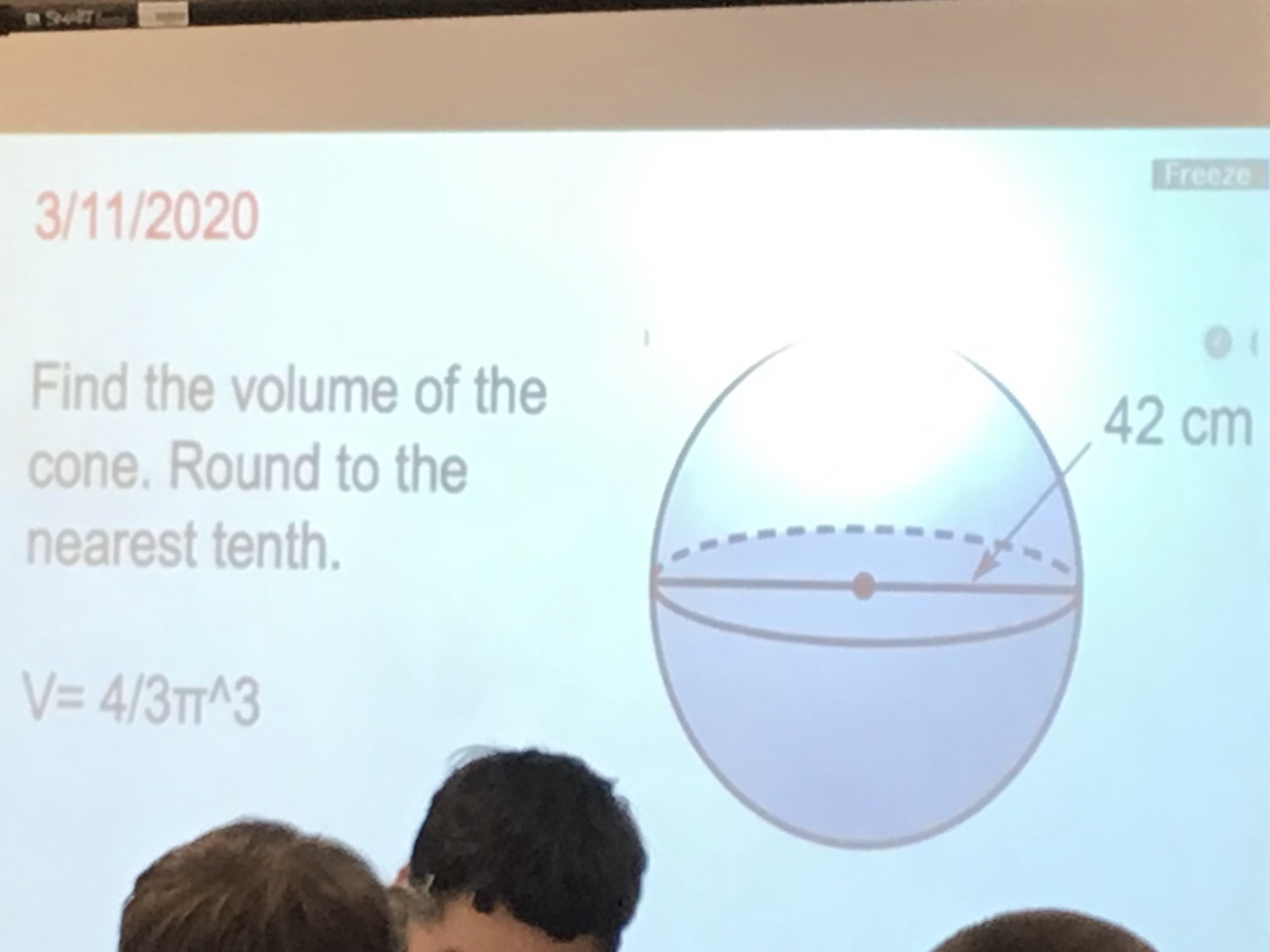This was in my math class today....thats not a cone - meme