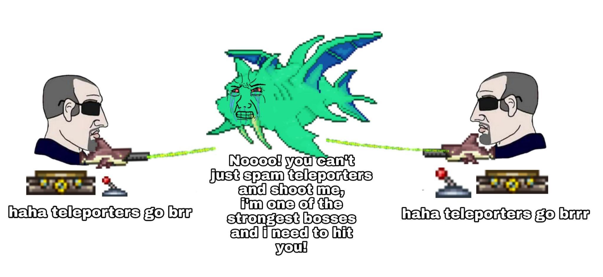 Chlorophyte bullets go brrr - meme