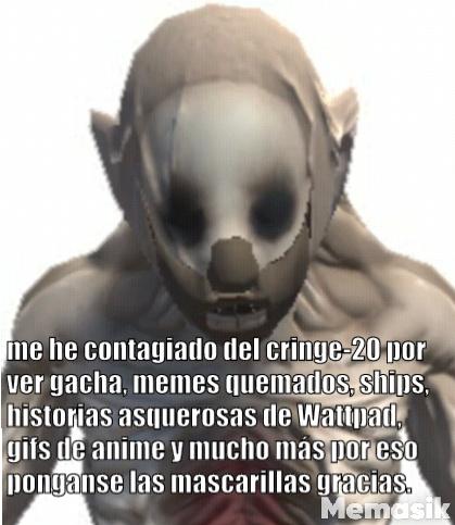 El new born con mascarilla quiere acabar con el cringe - meme