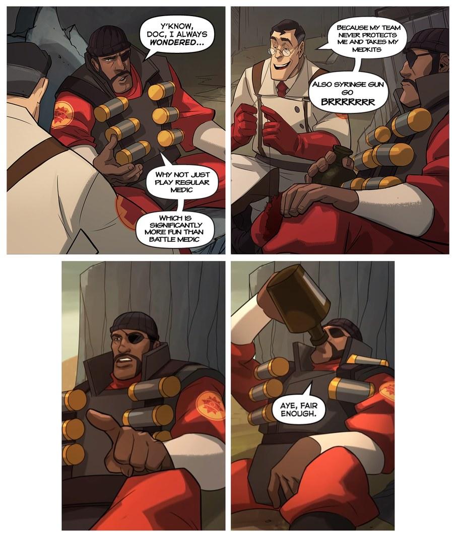 Battle medic is fun - meme