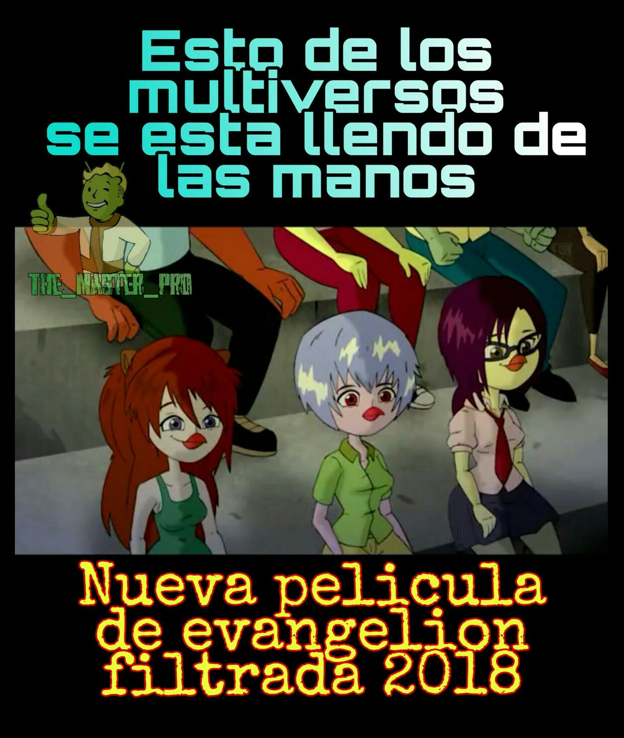 Evangelion en Regue Chicken xd - meme