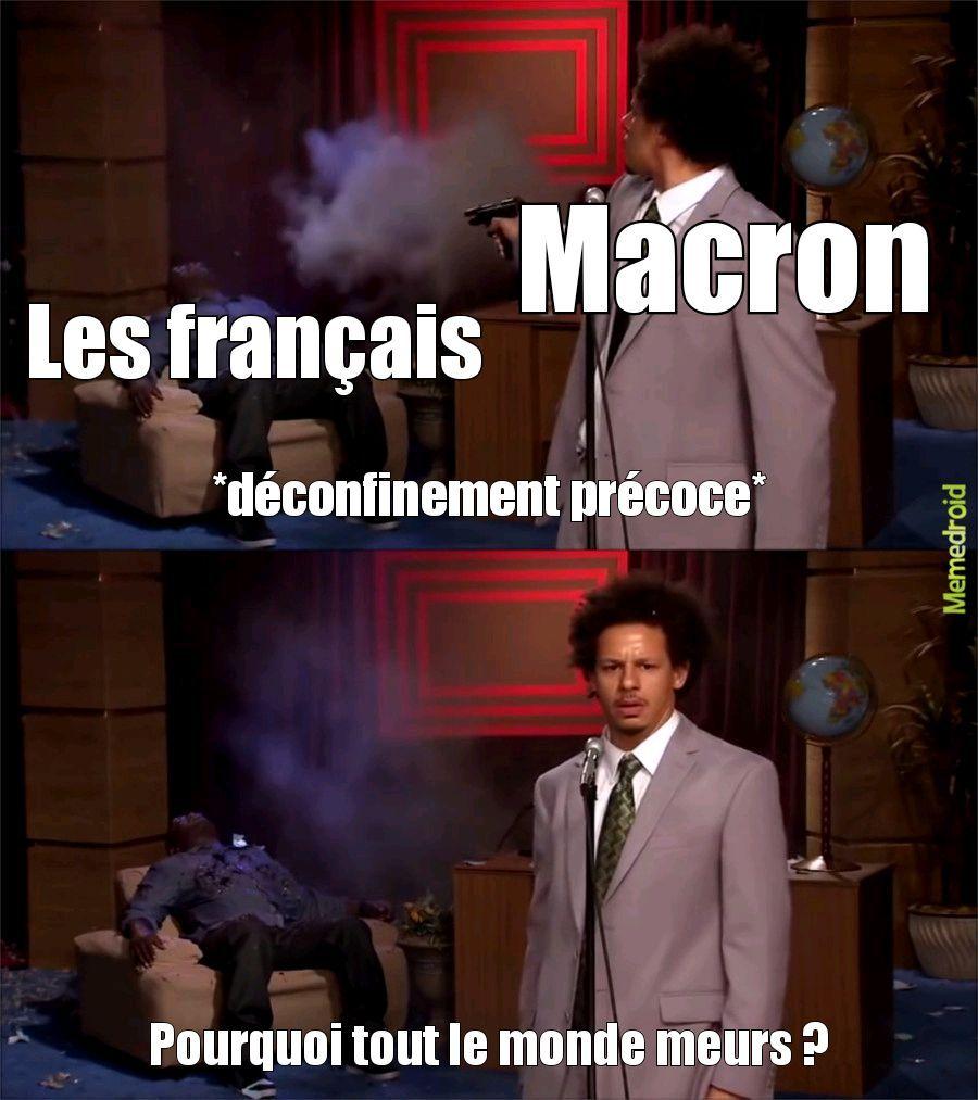 Qui a tué les français est ce macron ou le COVID... - meme