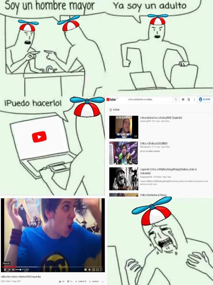 Pobre Tomas, no pudo aguantar una crítica hacia su idolo XDDDDDDDDDDD - meme