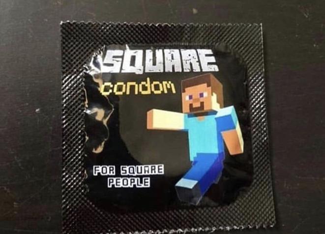 Square condom - meme