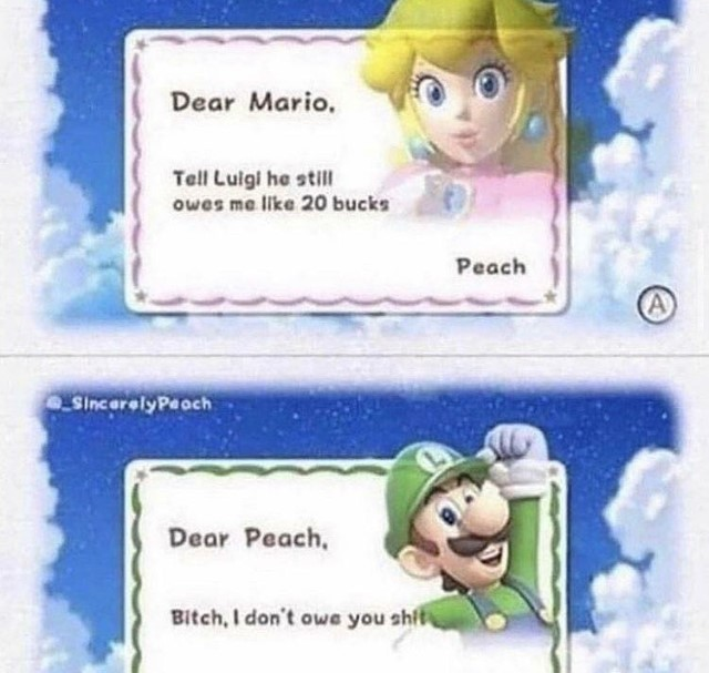 luigi is a dick - meme