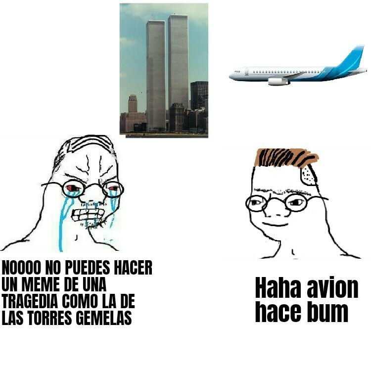 Haha avion hace bum - meme