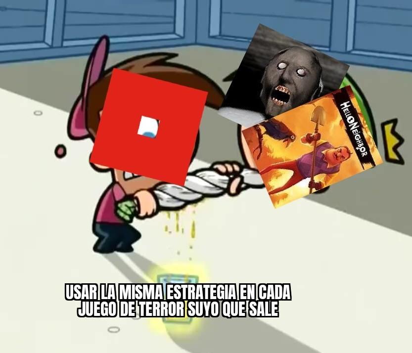 Resumen de los juegos de terror en roblox - meme