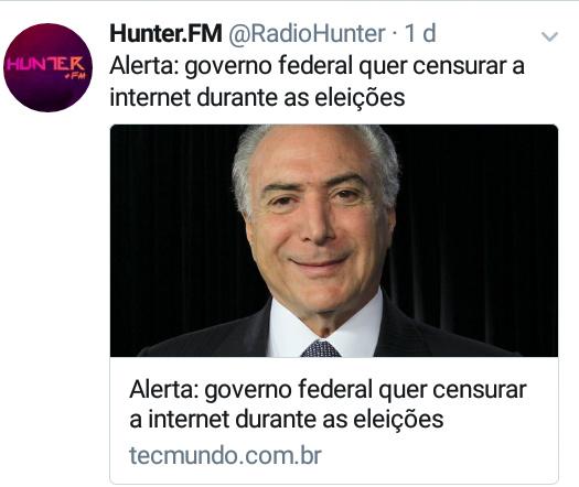 Brasil fodido #Hunter.FM - meme
