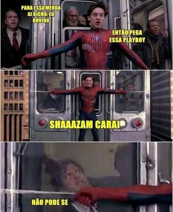 SHAZAM CAROLHO - meme