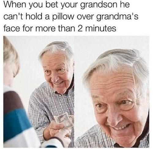 Evil grandpa - meme