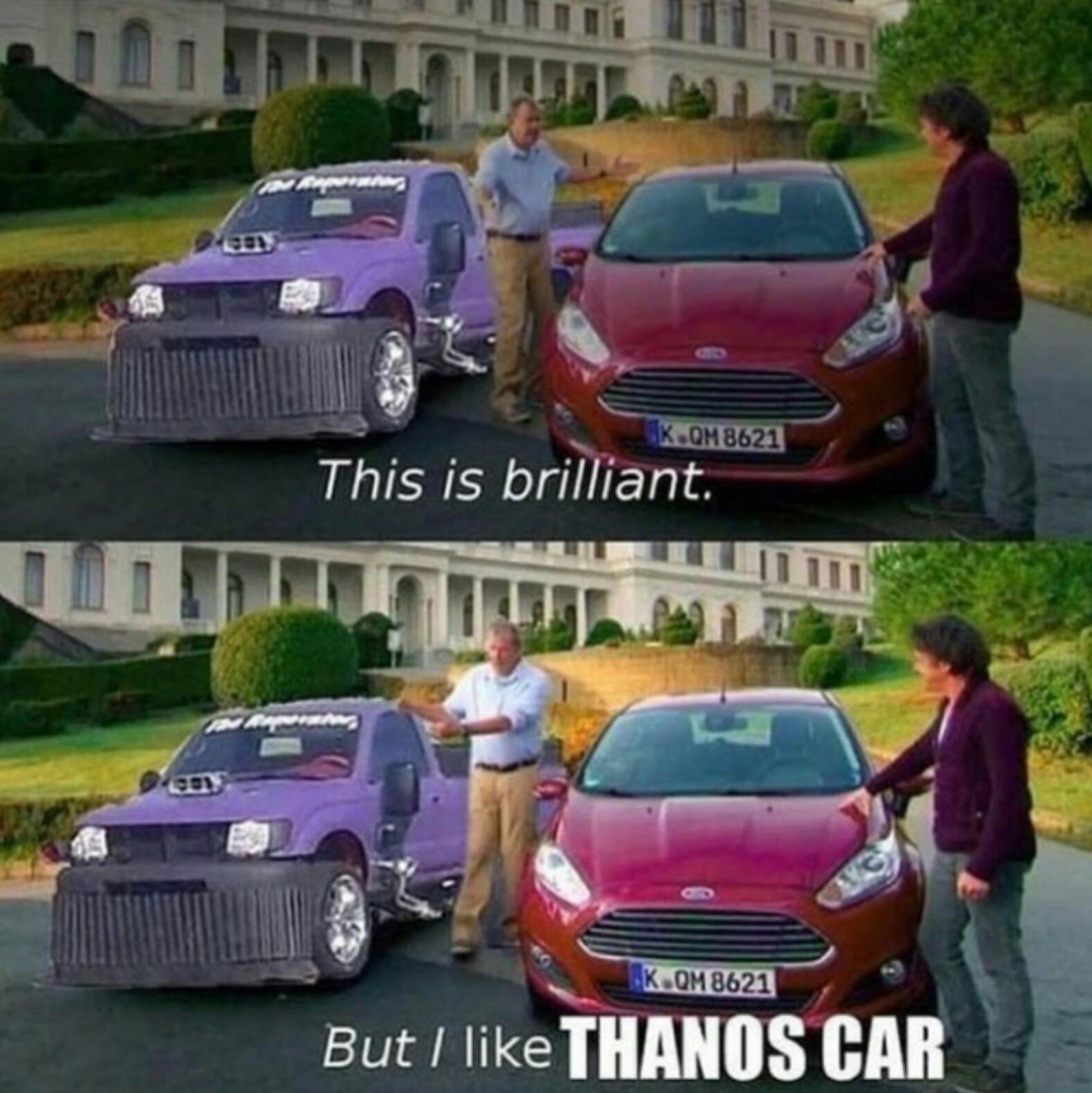 Thanos car - meme