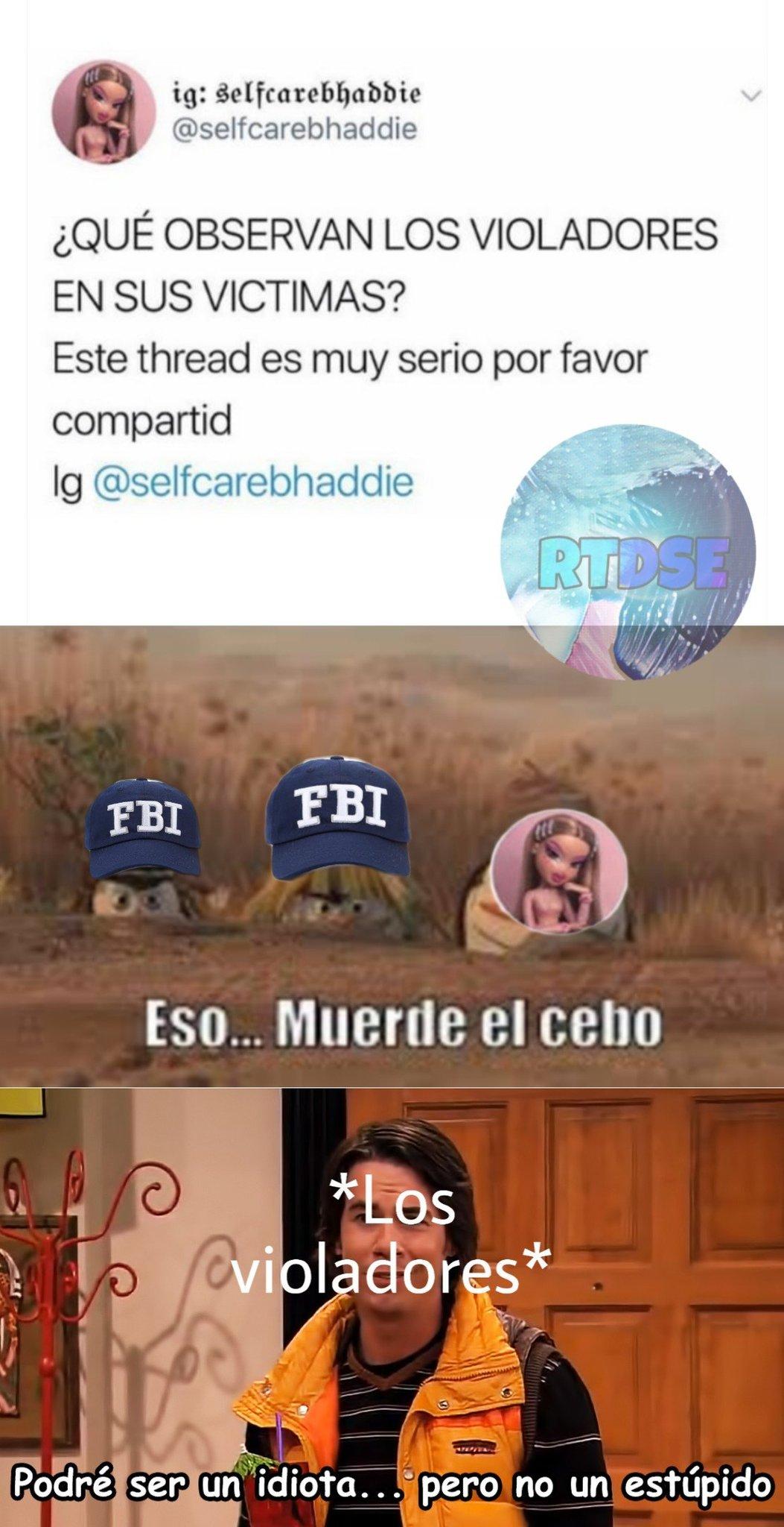 Tácticas del fbi para atrapar violadores - meme