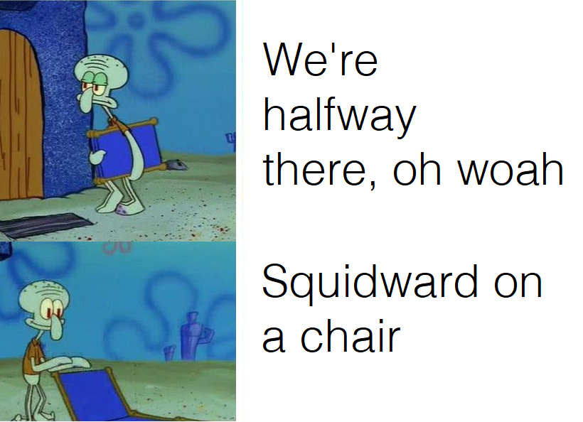 Squidward on a Chair - meme