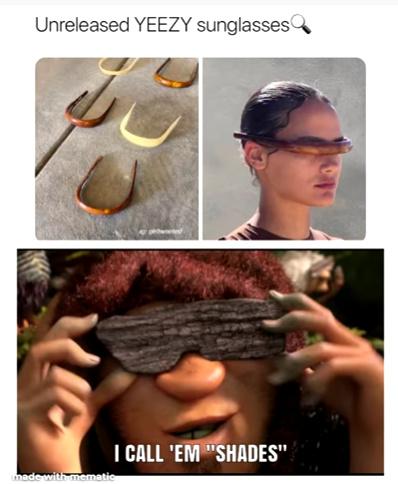 yeezy glasses - meme