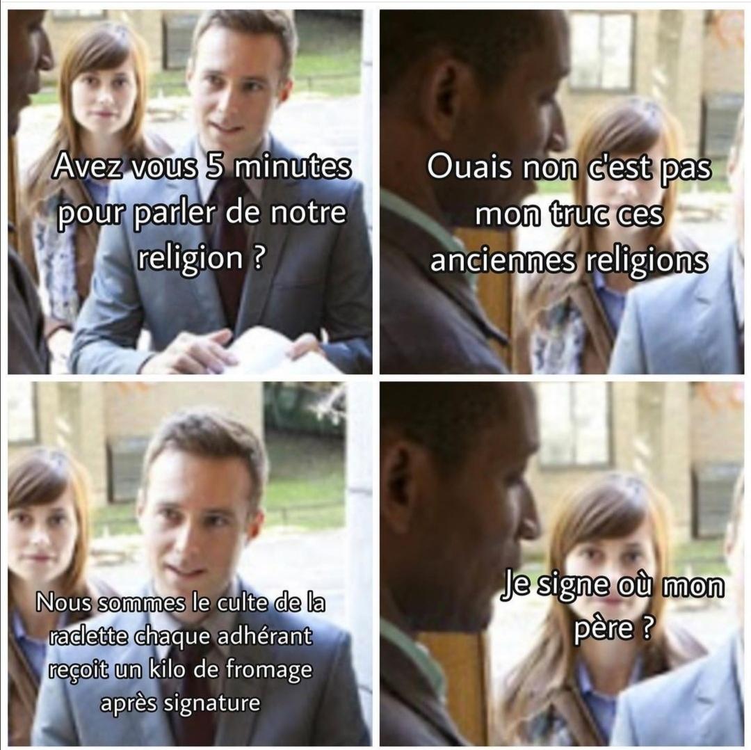 Raclette + confinement :O - meme