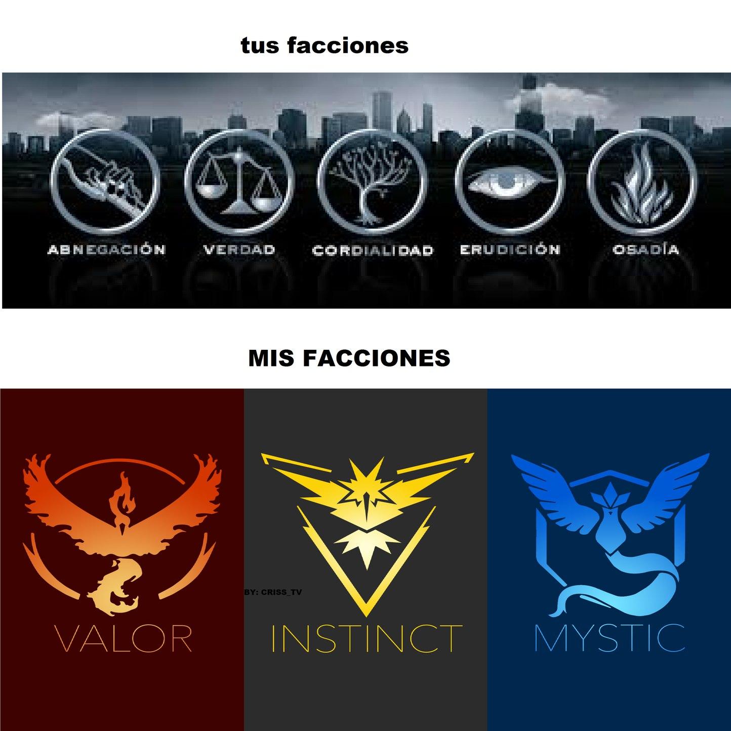 #team instinct, que facción eres? - meme