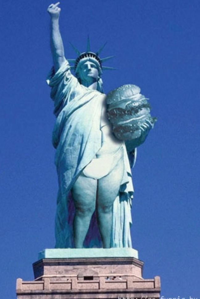 Estátua da liberdade brasileira - meme