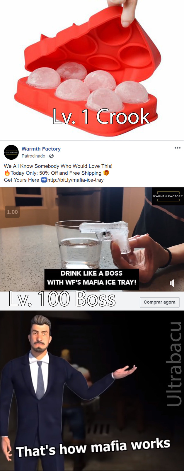 Isso era um anúncio do FB suahuassuh - meme