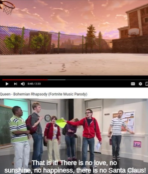 Fortnite has corrupted the incorruptable, The Great British Baking Show, the NFL (I guess), YouTube (I guess again)... - meme