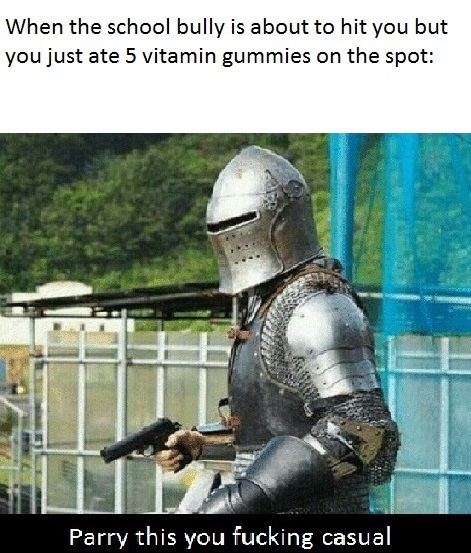 No one can stop the power of all 5 vitamin gummies - meme
