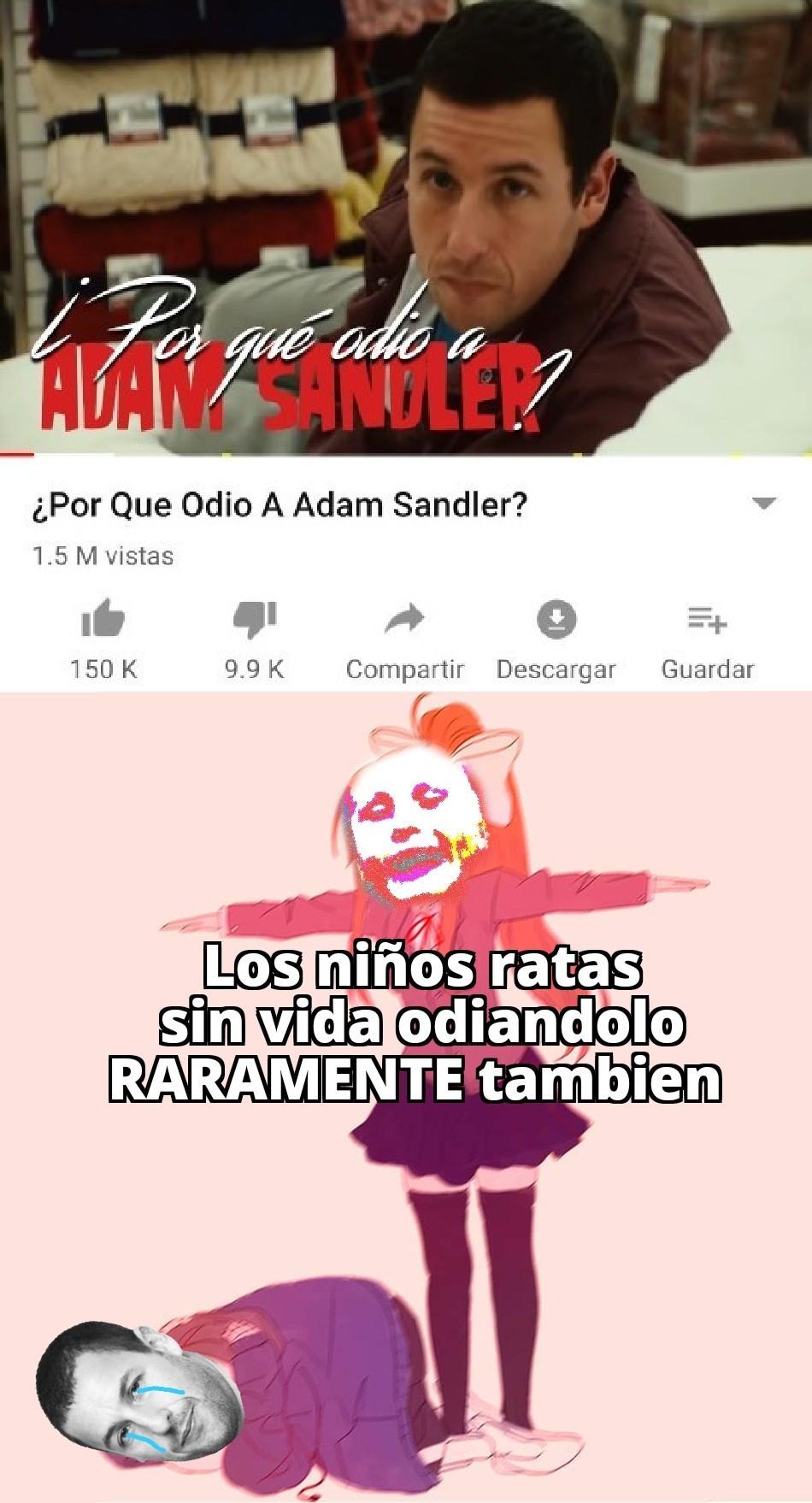 Pobre adam, los ratones van tras el - meme