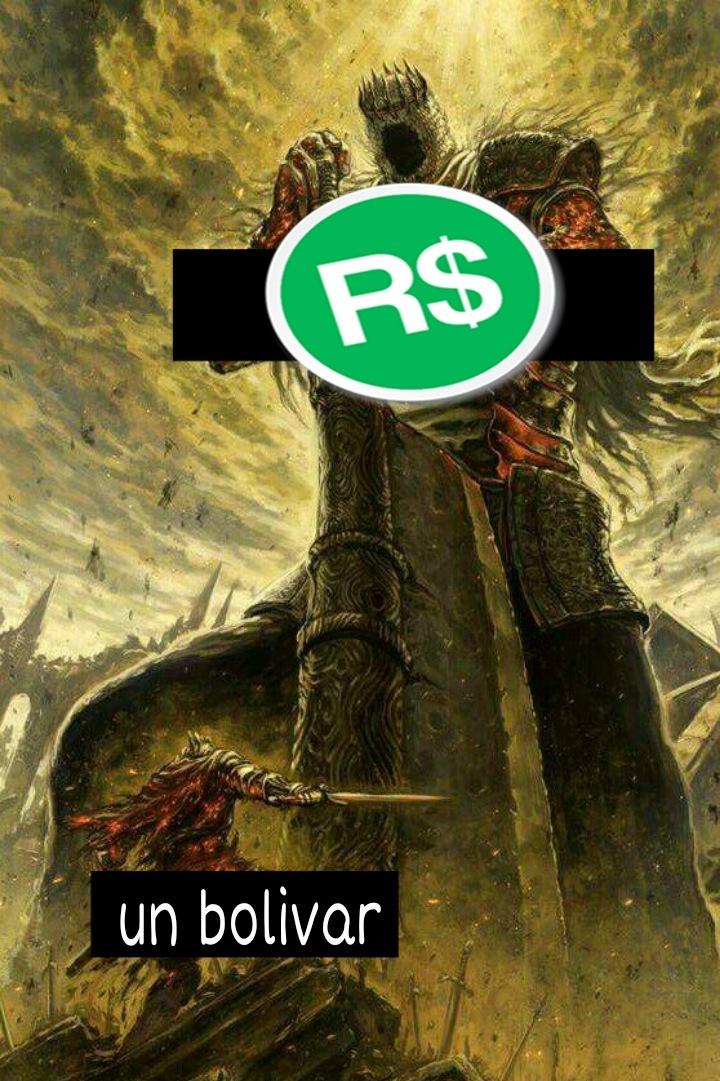 Robux < Bolívar - meme