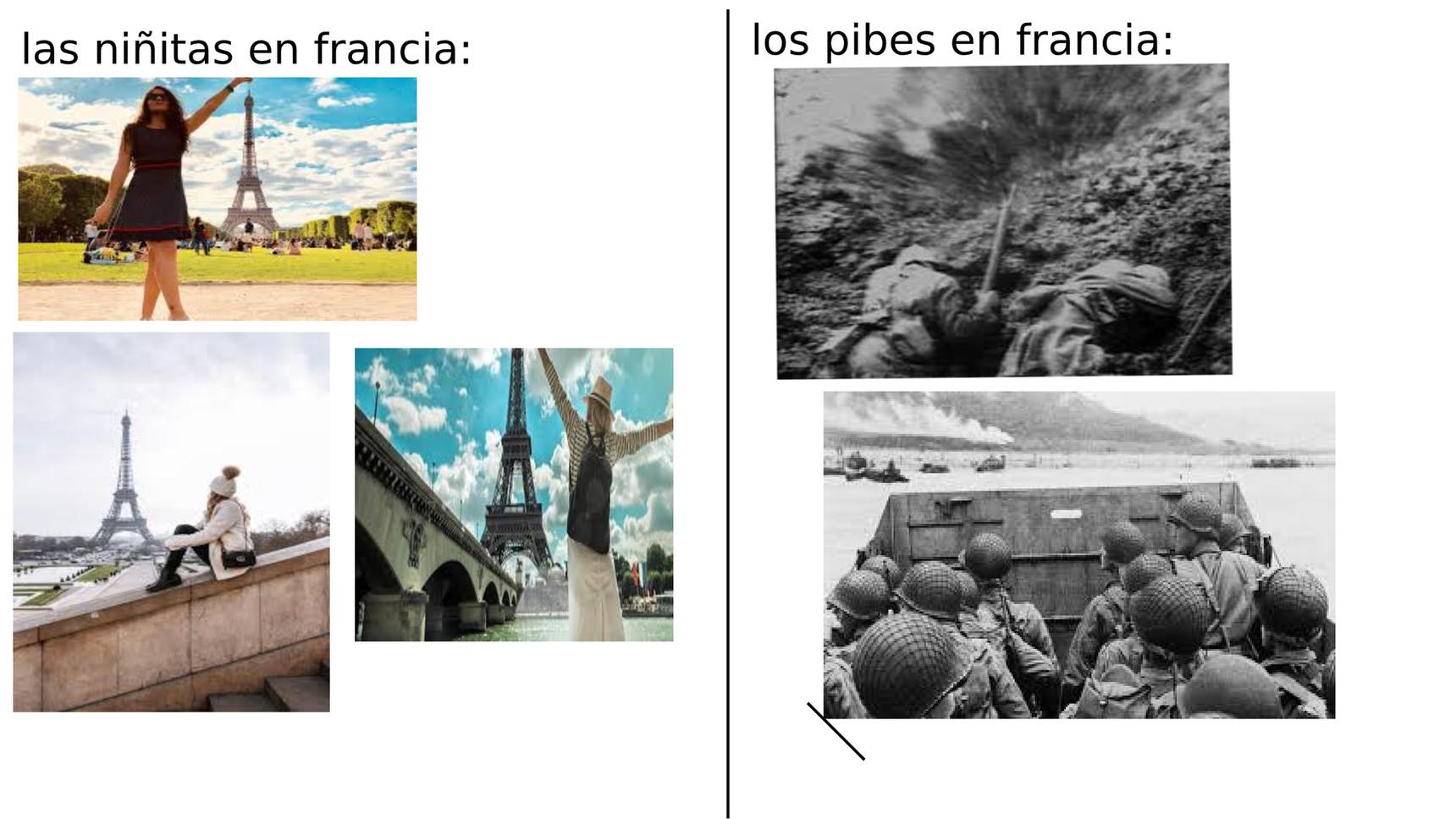 """contexto: solo busquen en internet """"Ardenas 1914"""" y """"Normandía 1944"""" - meme"""