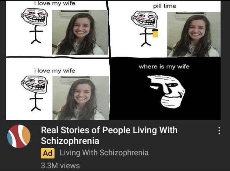 Where is his wife - meme